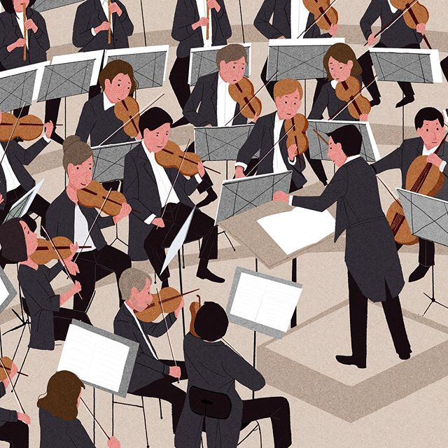 . . . . . . . . .. #illustration #illustrator #illustrationartists  #sketchbook  #moreillustrations #sketch #draw #drawing  #zhenlzhen #zhenliu  #artist  #illustrationoftheday #illustrationsketch #digitalillustration  #instart #digitalart #artoftheday #moreillustrations #editorialillustration #editorial #music #musician #symphony #sf #orchestra #perfomance @sfsymphony @sfsymphonymusicians