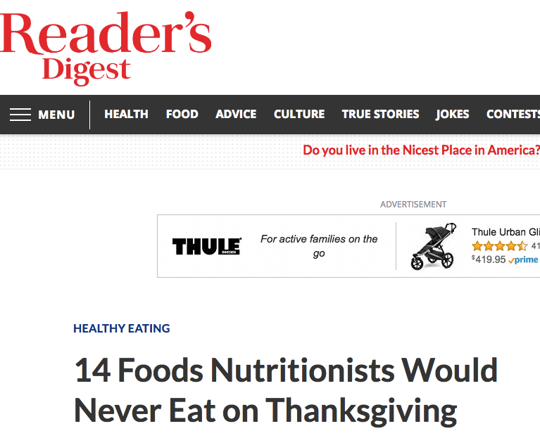 - Oct, 2018— Interviewed by Stacey Feintuch alongside a few respected nutritionists and registered dietitians