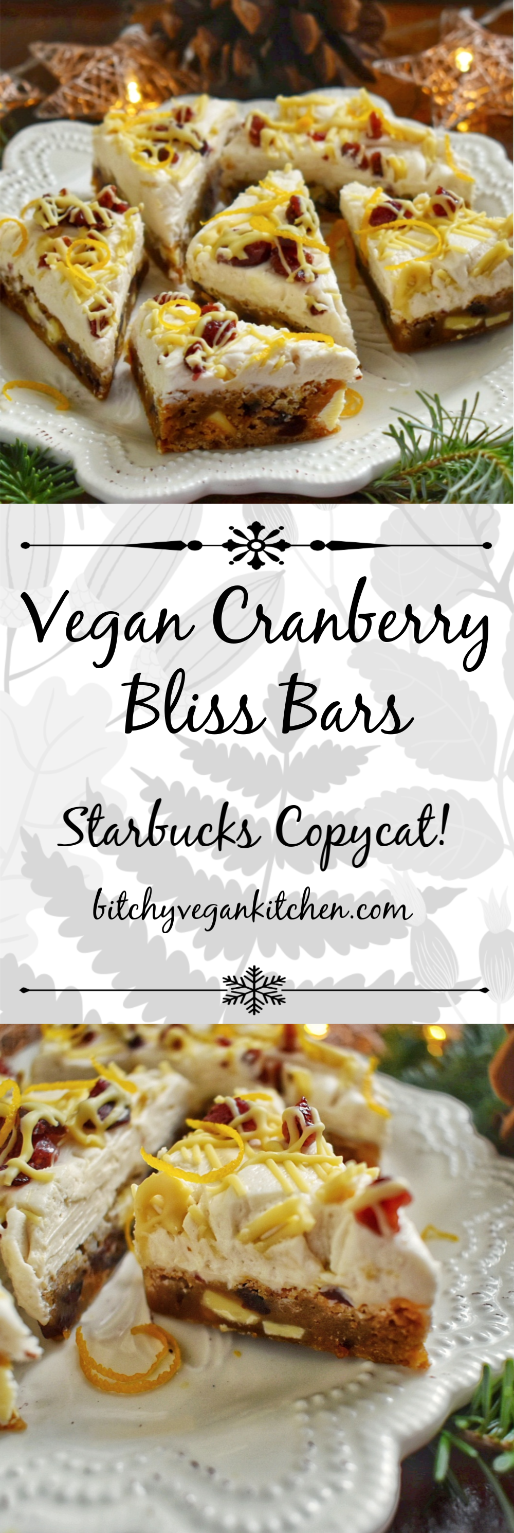 VeganCranberryBlissBarCollage
