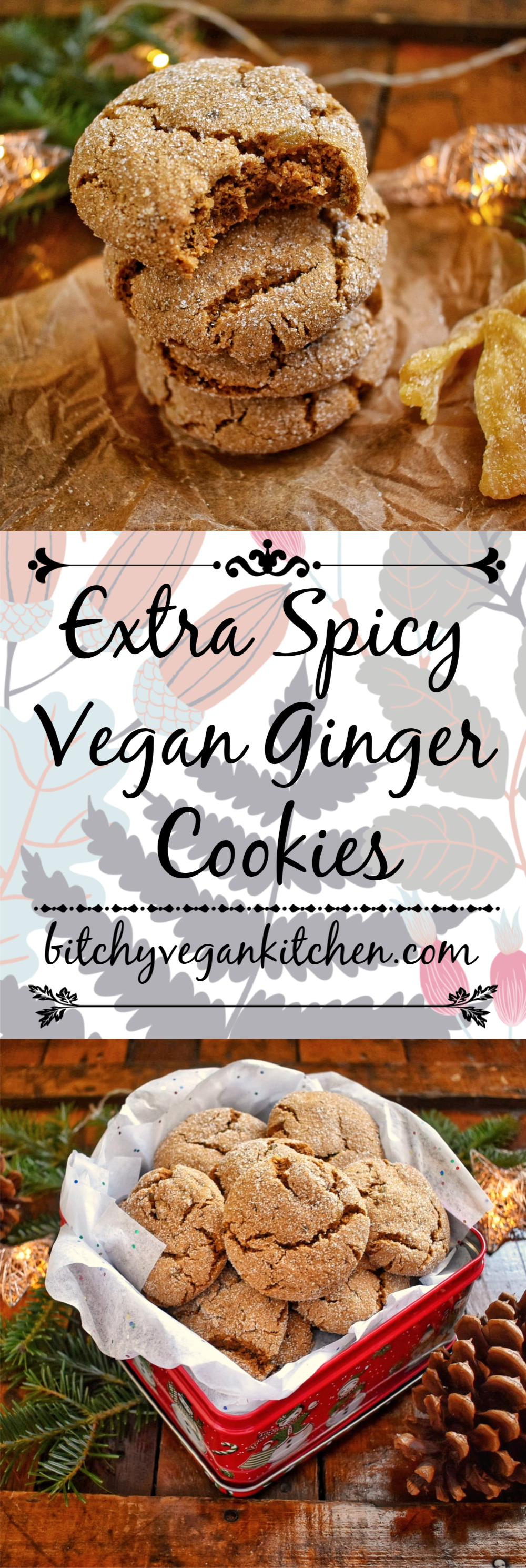 Extra Spicy Vegan Ginger Cookies - The Bitchy Baker