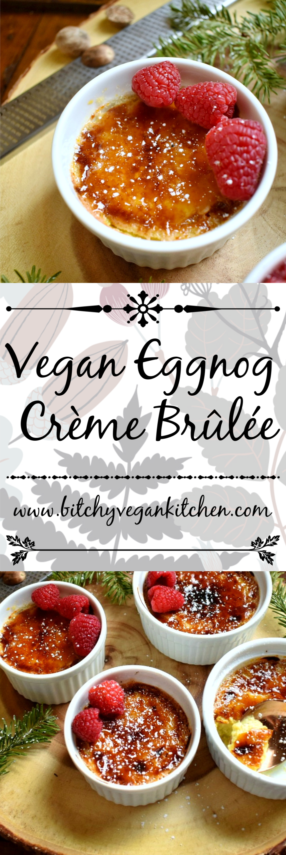 Vegan Eggnog Crème Brûlée - The Bitchy Baker