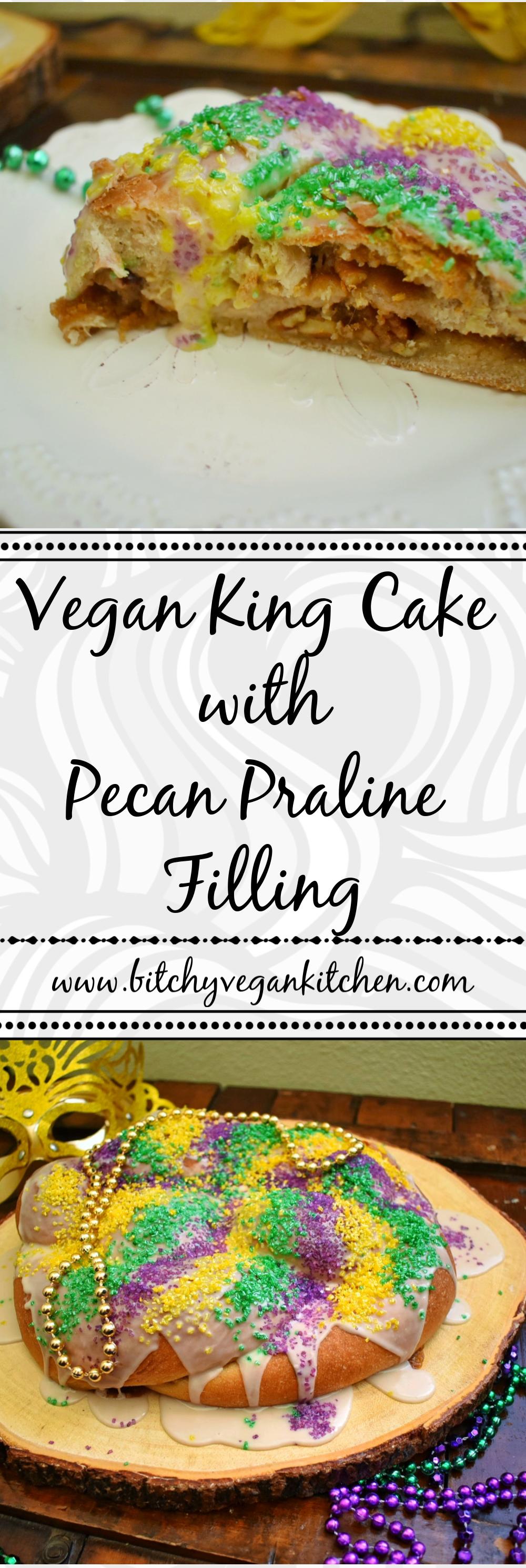 Vegan King Cake - The Bitchy Baker