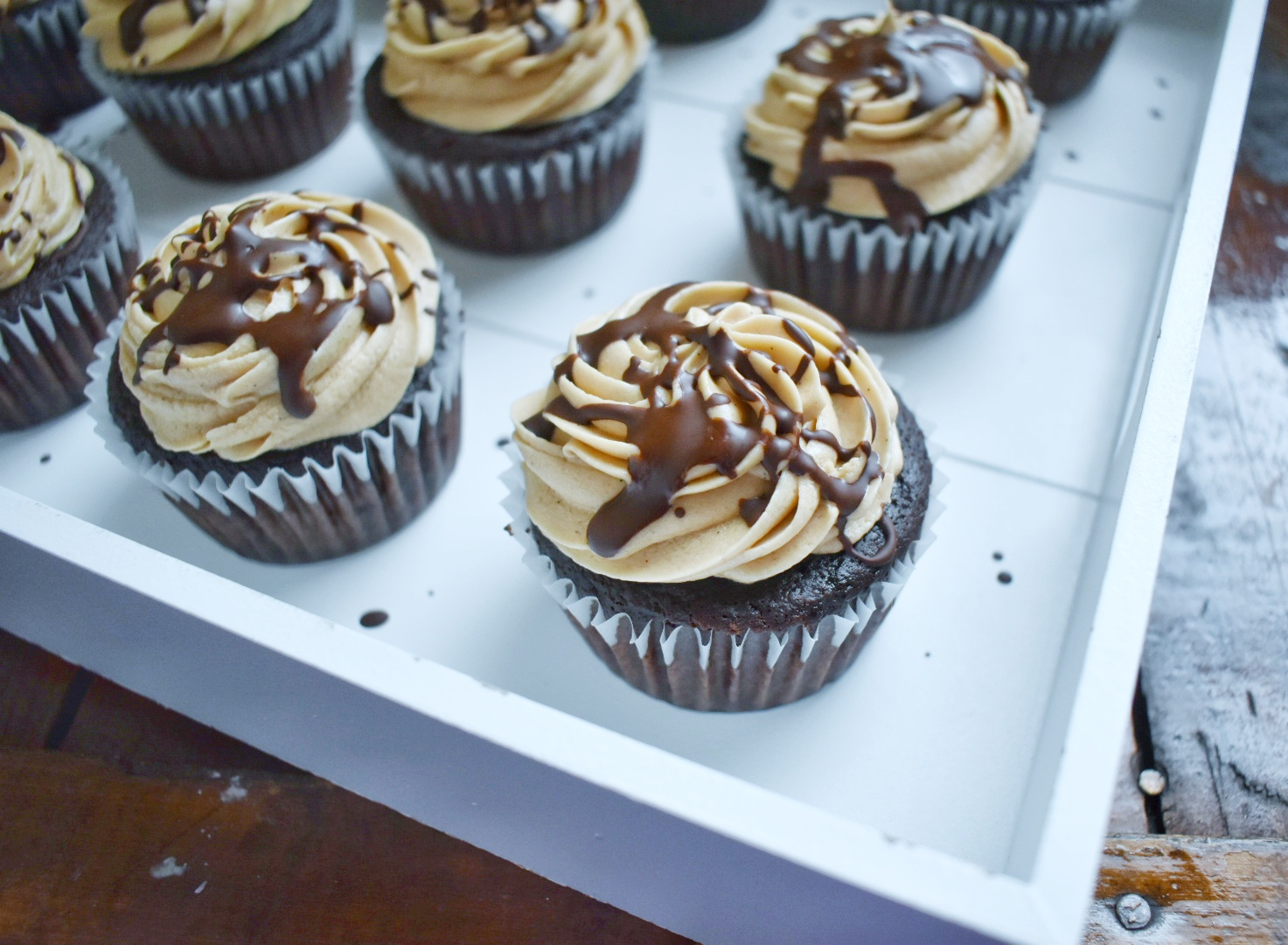 Vegan Chocolate Stout Cupcakes with Irish Whiskey Frosting - The Bitchy Baker