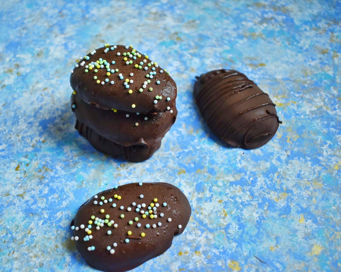 Vegan Chocolate Peanut Butter Eggs - The Bitchy Baker
