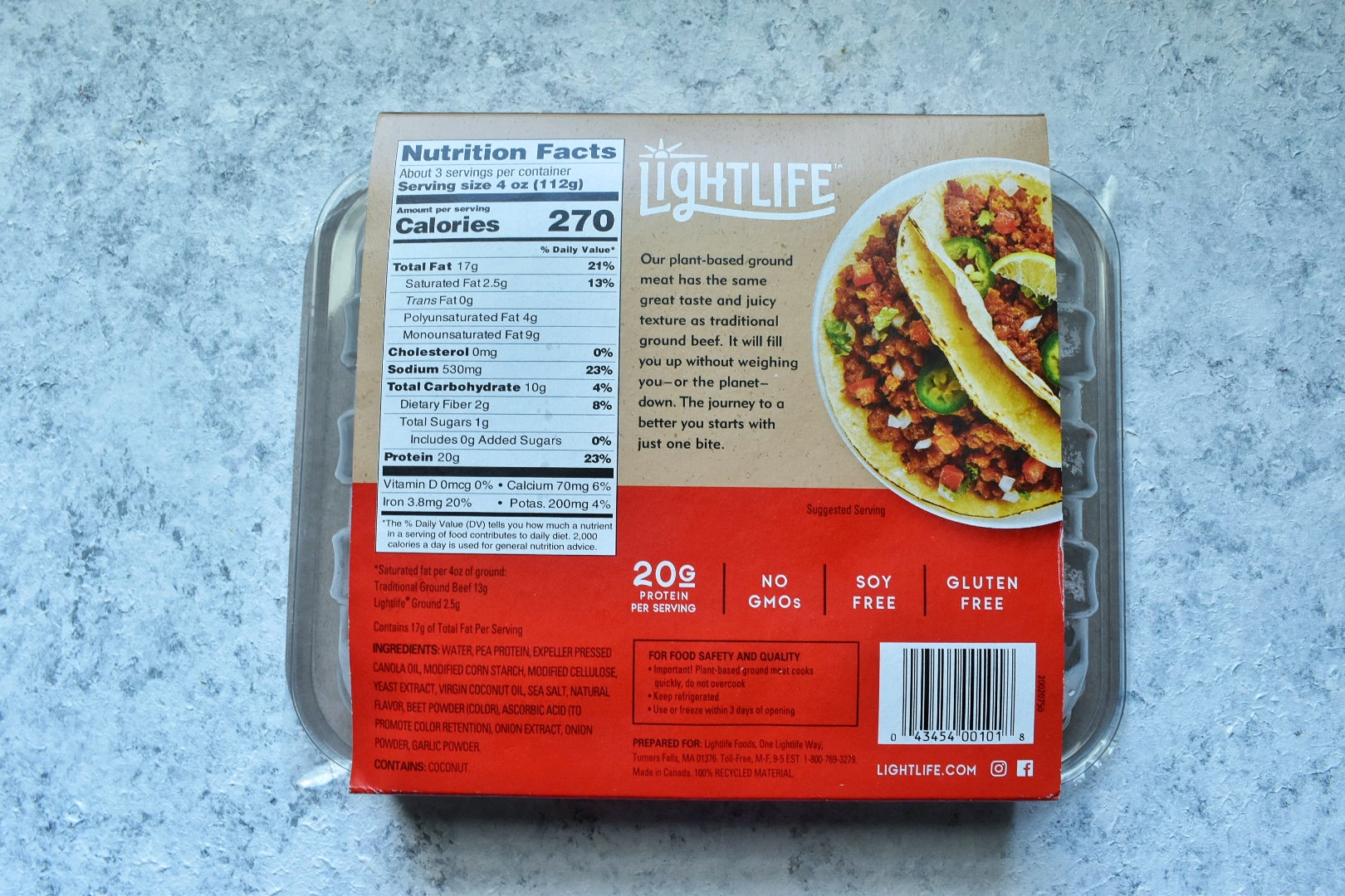 Lightlife Plant-Based Ground Product Review and Recipe Test