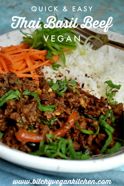 Vegan Thai Basil Beef - The Bitchy Baker
