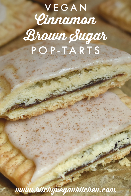 Vegan Cinnamon Brown Sugar Pop-Tarts - The Bitchy Baker