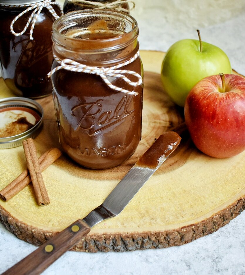 Easy Dump and Go Slow Cooker Apple Butter - The Bitchy Baker