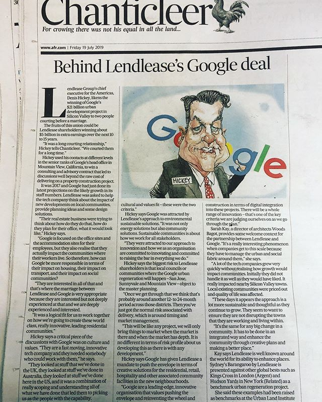 Here's an interesting discussion: How can #Google be more responsible in terms of their impact on housing, transport and social communities? @lendlease #integratedapproaches #australianfinancialreview #urbanregeneration #urbandensification #community #tech #communitysolutions #urbanplanning #australia