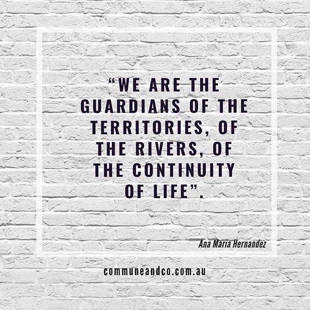 "Shiver me timbers. How we love this quote! It's a special one, just for climate strike this 20th sept. We've also got a new community engagement initiative brewing to be launched this Friday, details coming. In the meantime, keep on keeping on! . . ""We are the guardians of the territories, of the rivers, of the continuity of life"" . . #readyforclimatestrike #20thsept #notbusinessasusual #climateemergency #deepecology #protectourland #wearenature #environmentalplacemaking"