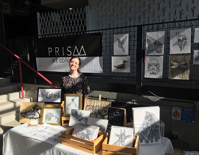 All set up and ready to go @kegandcasemn! @prismartcollective will be here til 9 tonight and 9-6 tomorrow. And I've got all the Mother's Day prints 🥳🙃😉 Find all the deets in my story . . . #prismartcollective #prints #mothersday #market #art #artistsoninstagram #artfair #drawing #penandink #giclee #kegandcase #itssunny #nurserydecor
