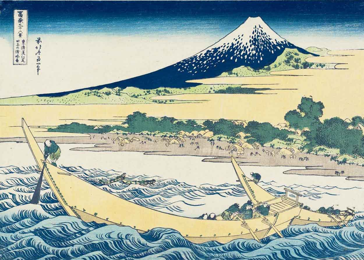 Tago Bay on the Tokaido, Woodblock Print by Katsushika Hokusai