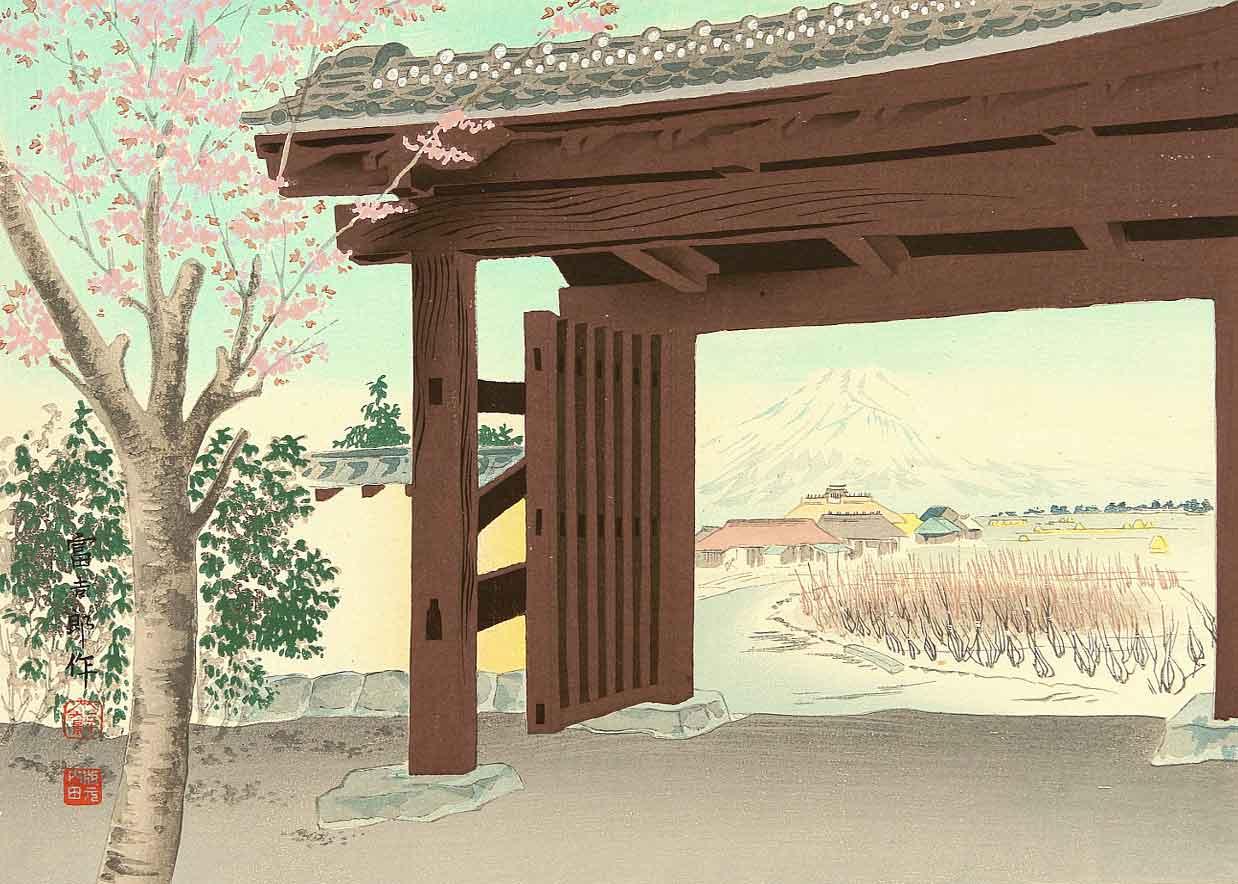 ©  Artelino , Thirty-Six Views of Mount Fuji - From Egawa Mansion, Woodblock Print by Tokuriki Tomikichiro