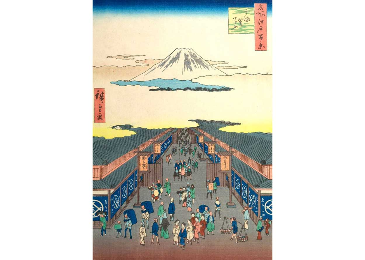 Suruga Street, Woodblock Print by Utagawa Hiroshige