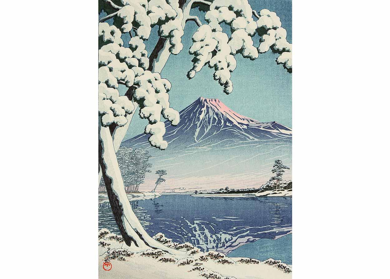 ©  Artelino , Mt Fuji After Snow, Woodblock Print by Kawase Hasui