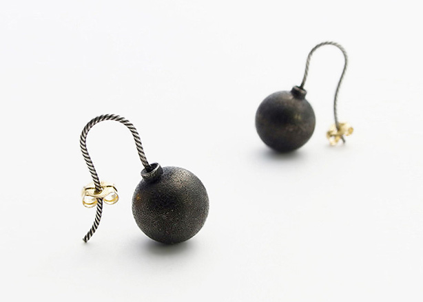 © Akiko Kurihara, Bomb Earrings