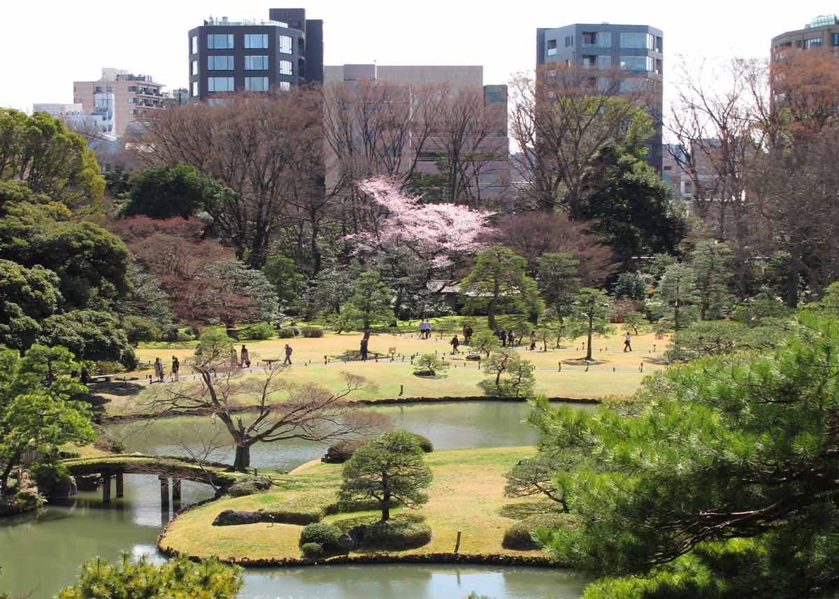 Rikugien Garden From Above