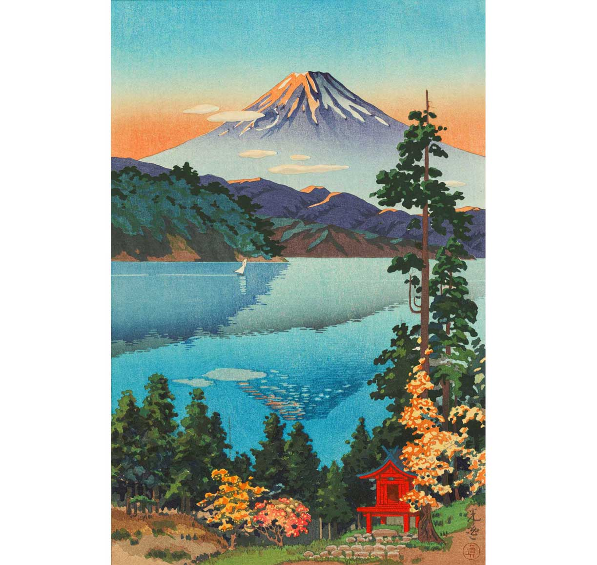 Lake Ashi by Tsuchiya Koitsu