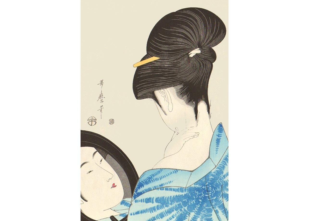 Beauty, Woodblock Print by Kitagawa Utamaro