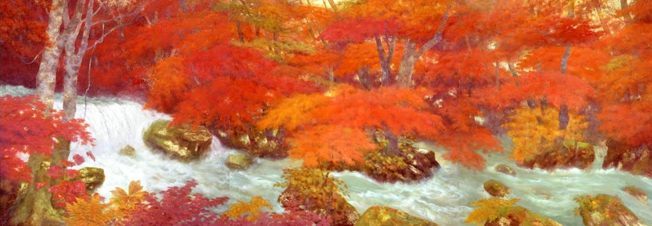 © Genso Okuda, Oirase Ravine (Autumn), 1983,  Yamatane Museum of Art