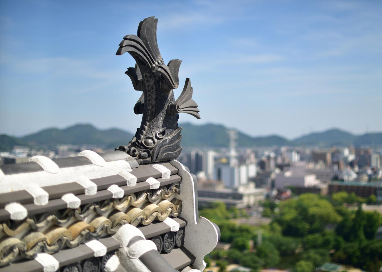 ©  Steve Brown  /  Creative Commons , City of Himeji from Himeji Castle