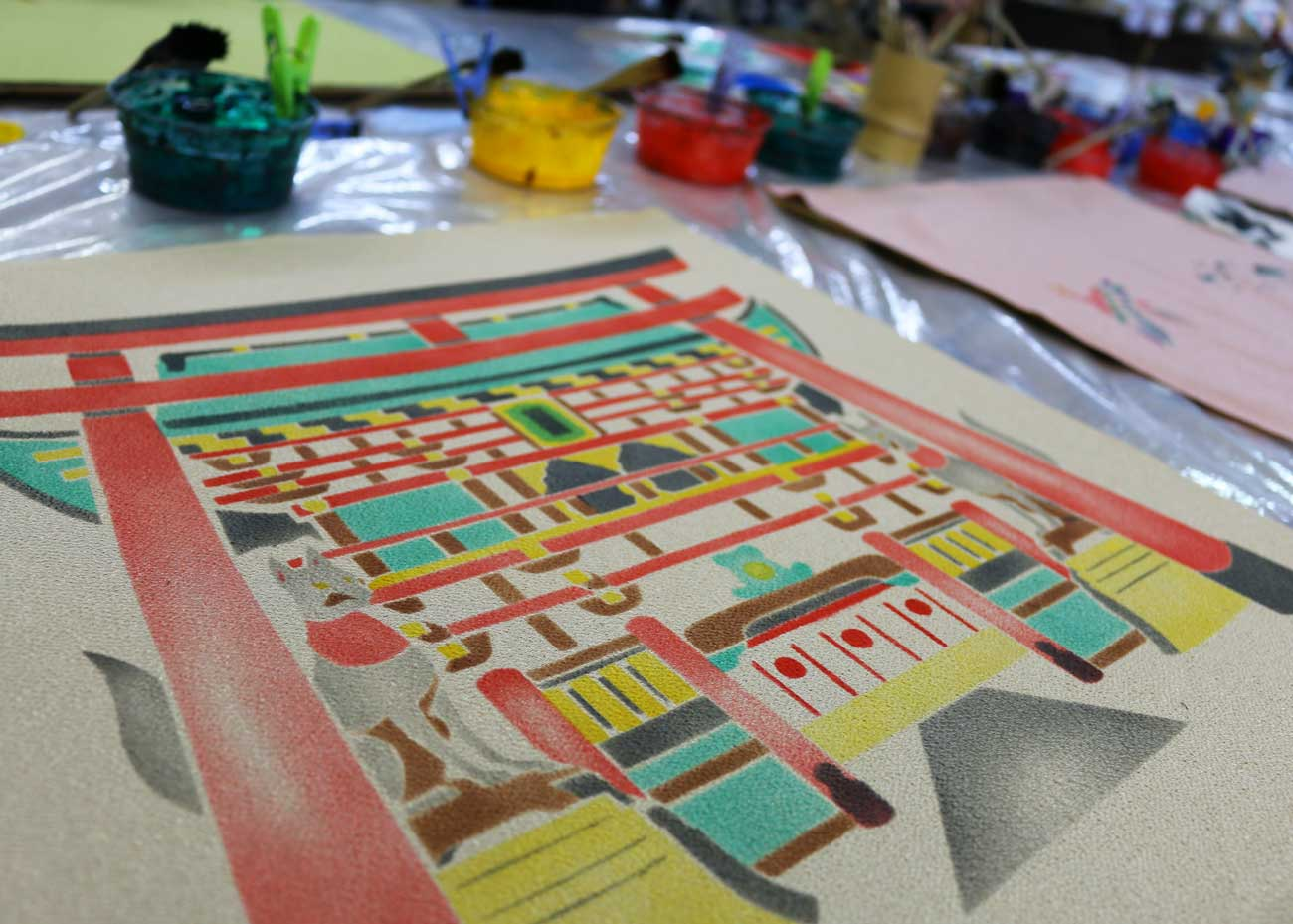 © Ryo Fujita / Creative Commons, Kyoto Yuzen Dyeing Class