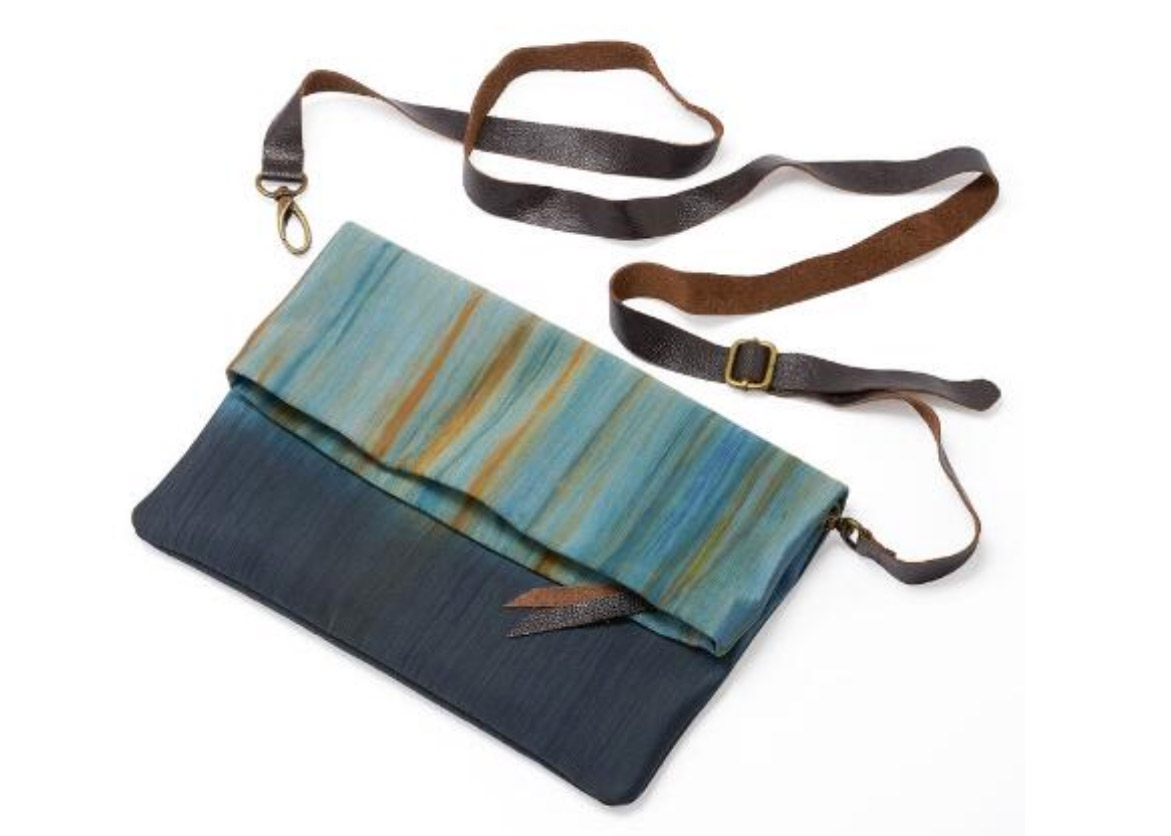 Hand-Dyed Watercolor Clutch