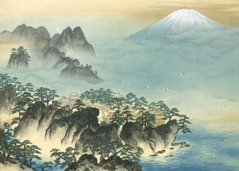© Taikan Yokoyama, Mount Penglai, 1948,  Adachi Museum of Art