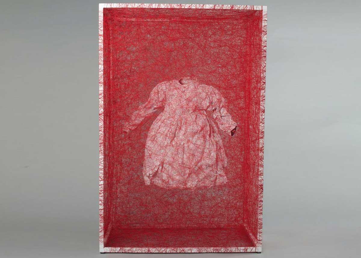 © Chiharu Shiota, State of Being (Children's Dress), 2013
