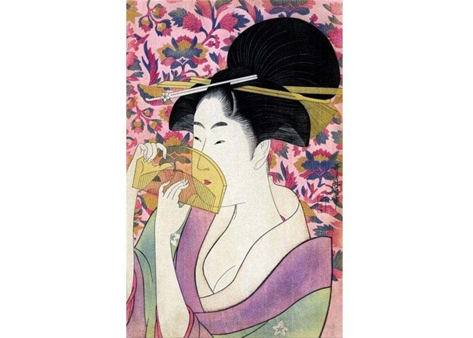 Kushi Comb, Woodblock Print by Kitagawa Utamaro, 1795