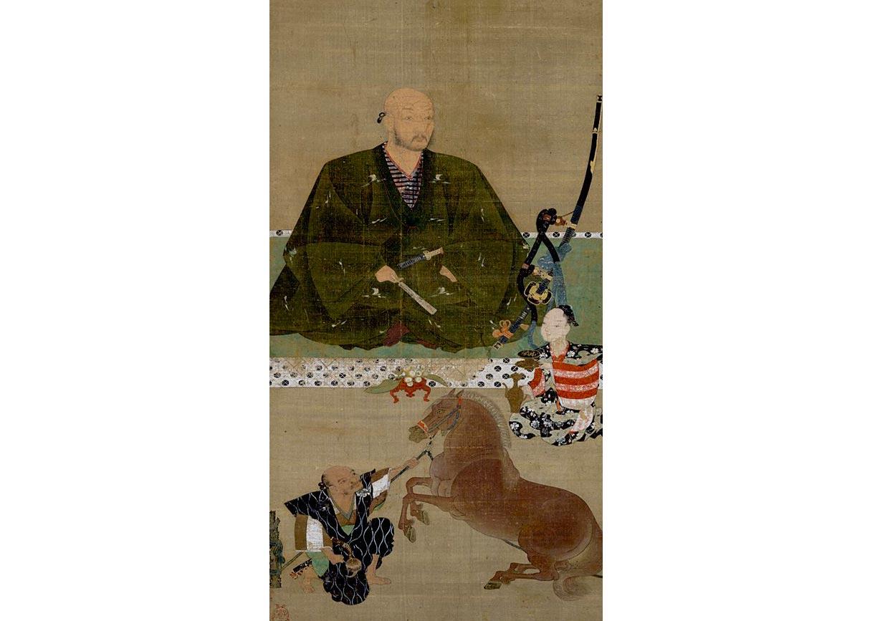 Portrait of Nawa Nagatoshi, Silk Scroll by Hasegawa Tohaku