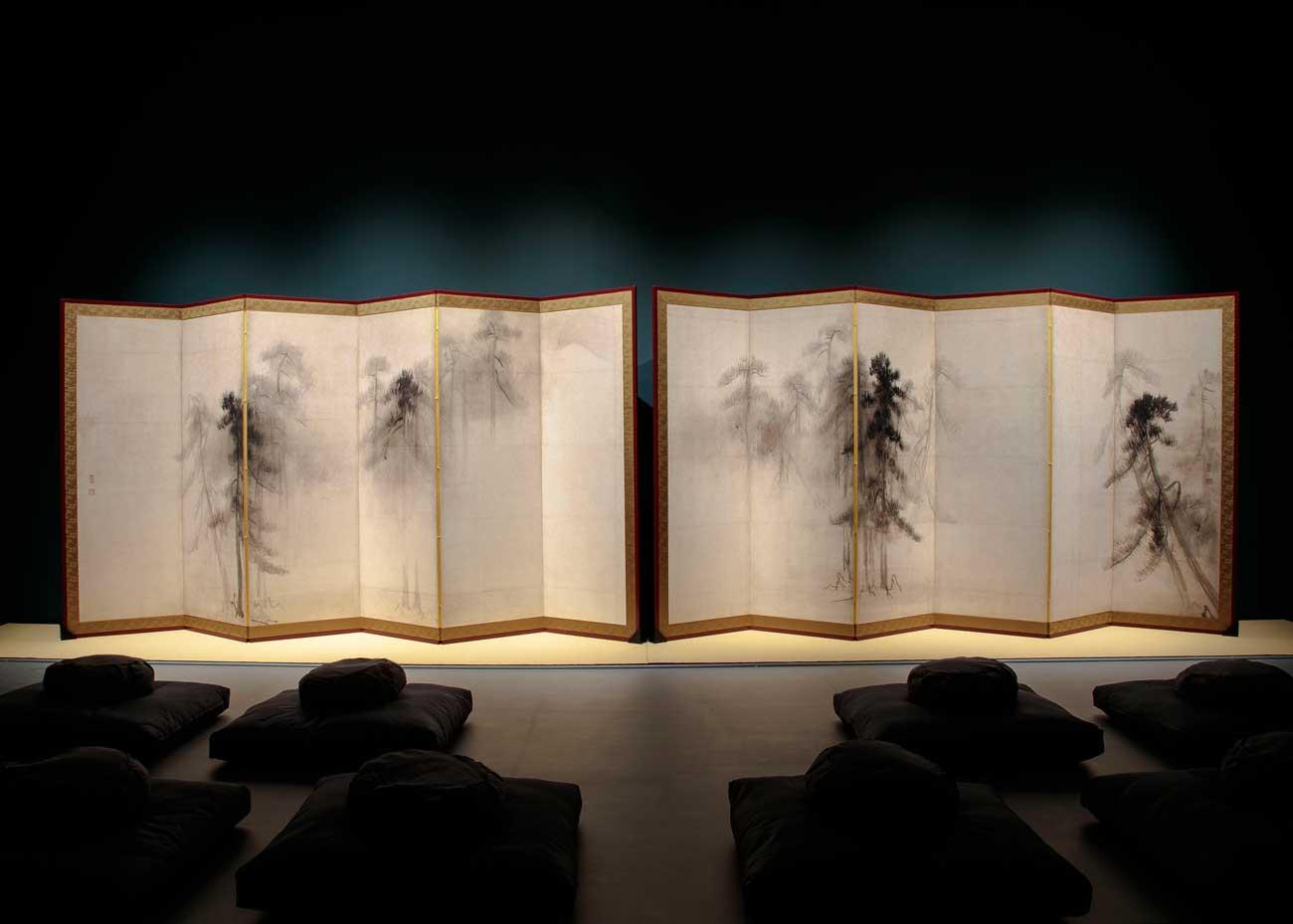 © Richard Goodbody, Pines Screen by Hasegawa Tohaku at the Japan Society