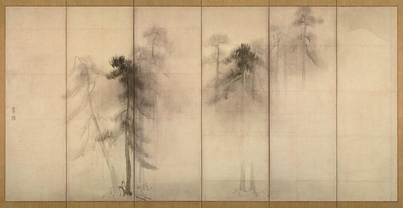 Pine Trees Painting by Hasegawa Tohaku