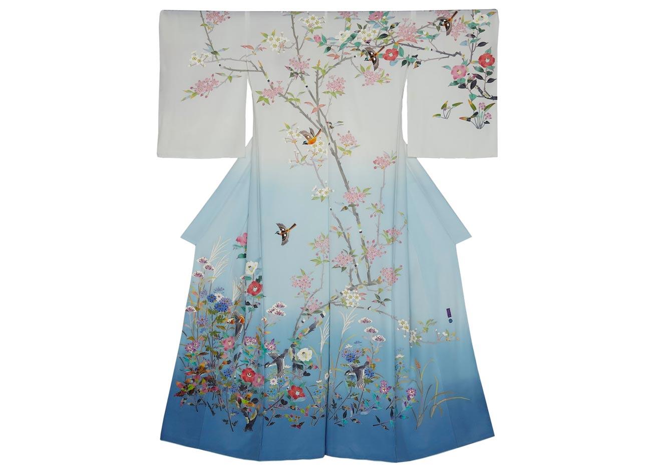 © Toshio Hyakkan, Cherry Blossom Kimono by Kaho Hyakkan