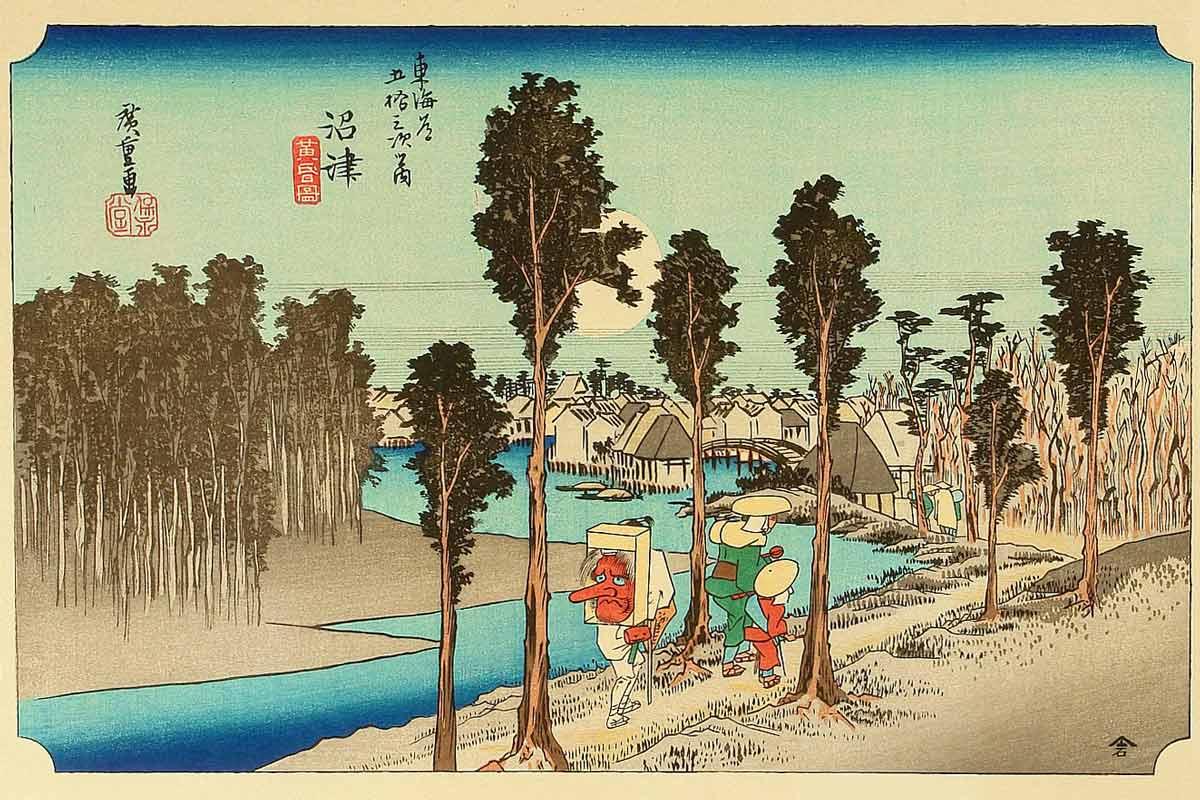 Numazu, 12th Station of the Tokaido, Utagawa Hiroshige