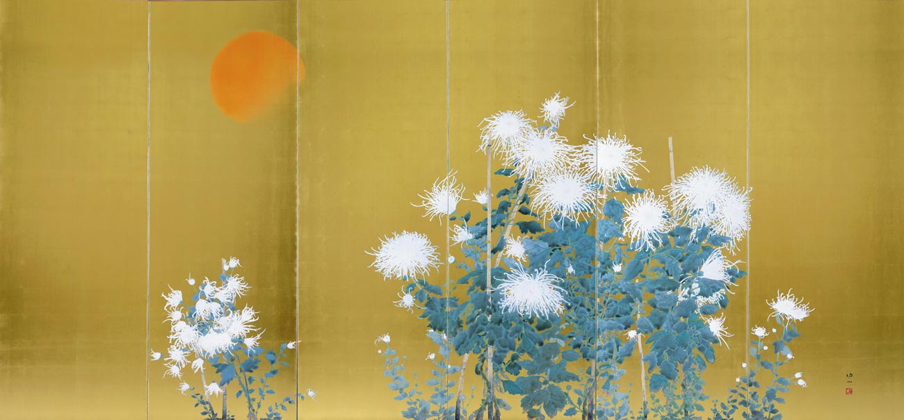 © Koichi Nabatame, Scene of the Rising Sun and Chrysanthemums, 1999