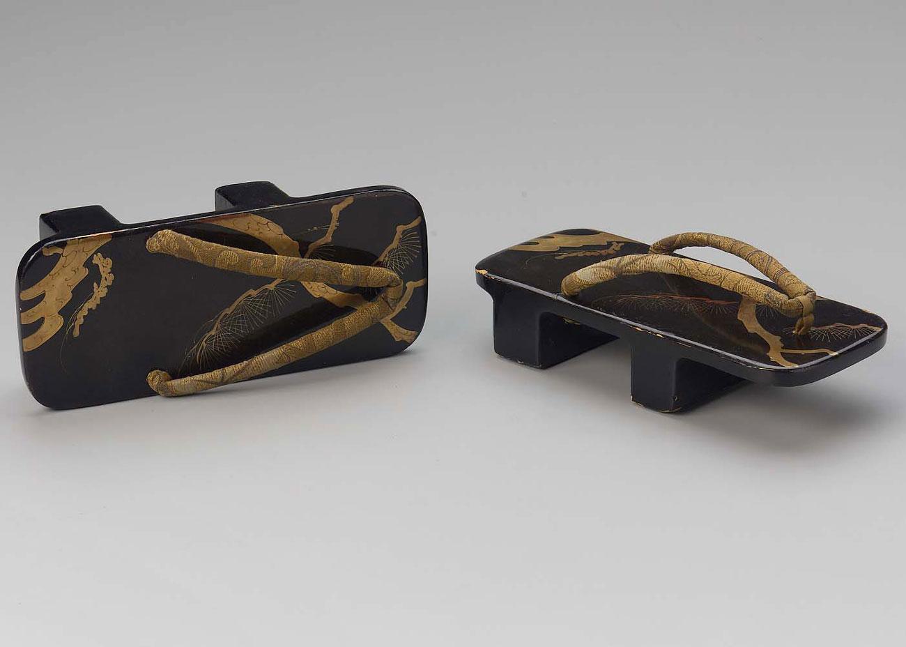 Black Lacquer Geta, early 20th Century,  Museum of Fine Arts, Boston