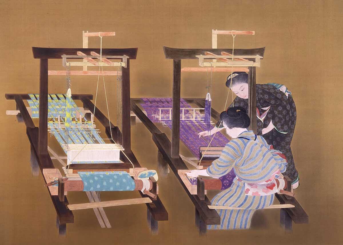 © Kokei Kobayashi, Weaving, 1926,  National Museum of Modern Art, Tokyo