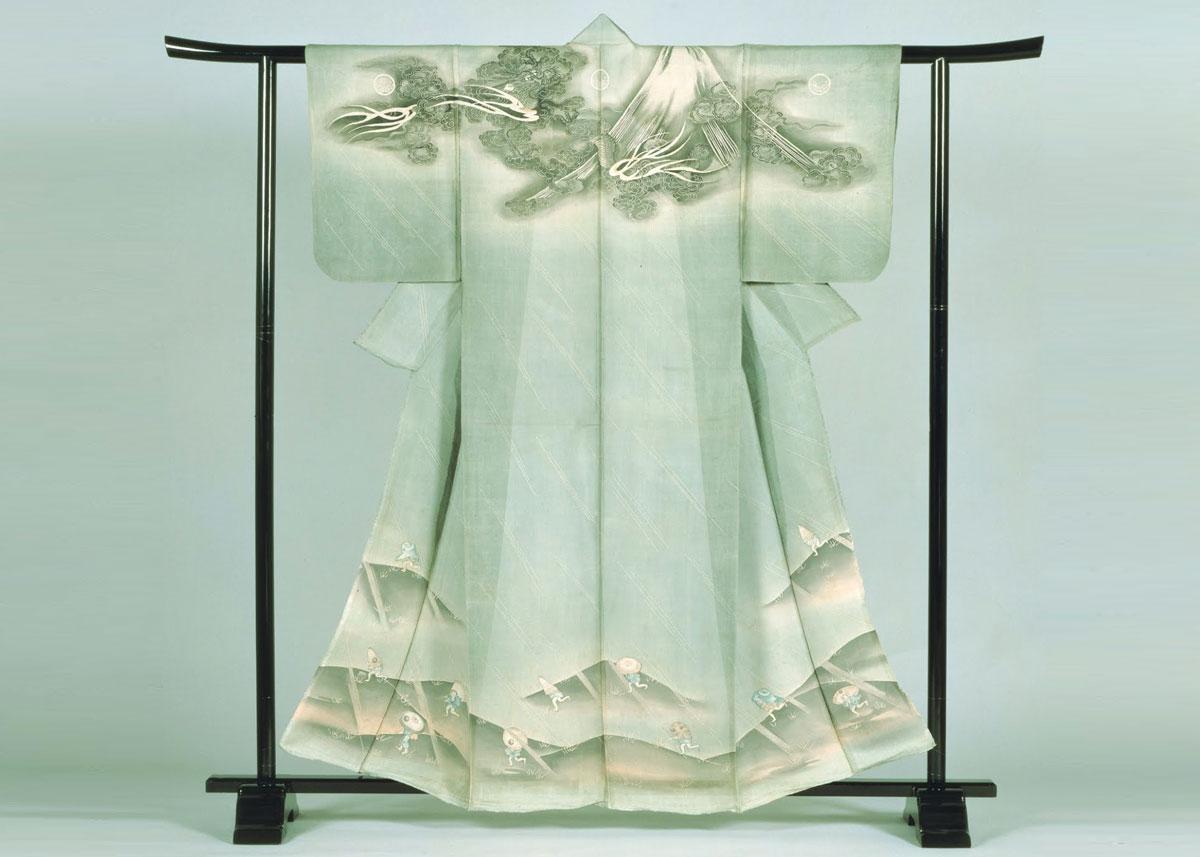 Mount Fuji Kosode Kimono, from the Nara Prefectural Museum