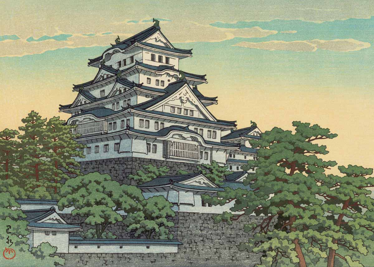 © Hasui Kawase, Himeji Castle, 1953