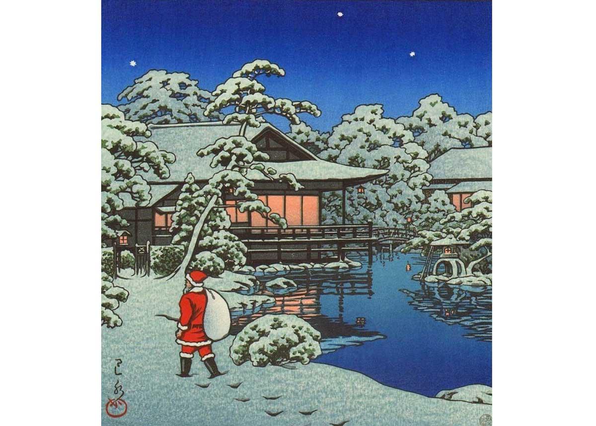 © Hasui Kawase, Tokyo Santa, 1950