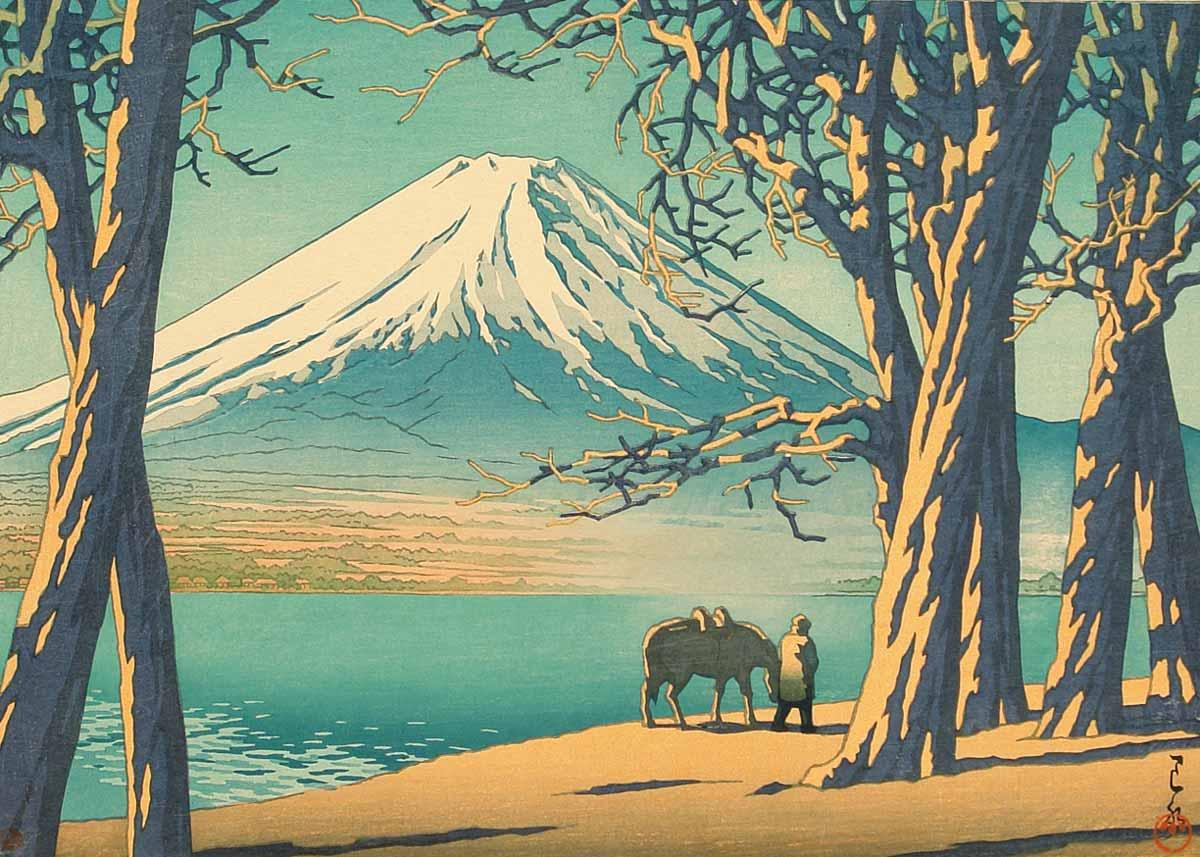 © Hasui Kawase, Late Fall by Lake Yamanaka, 1947