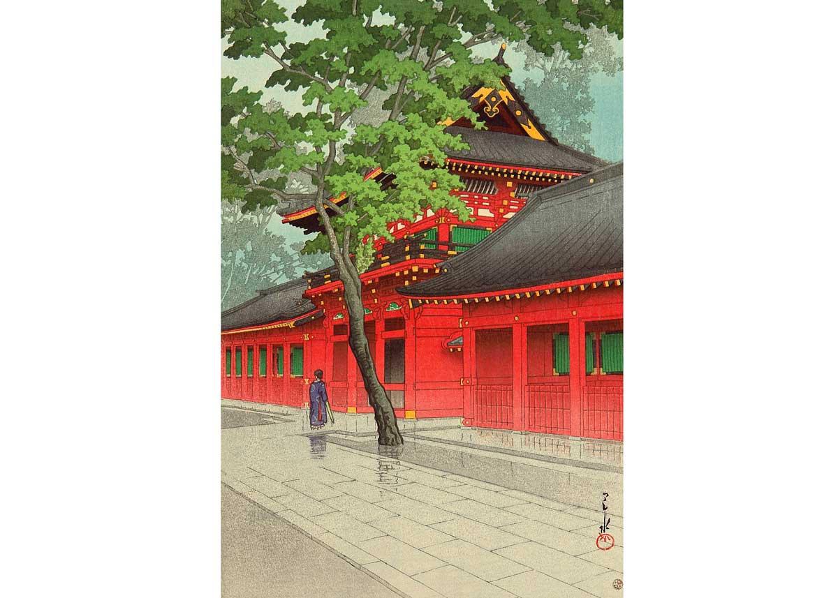 © Hasui Kawase, After Rain at Sanno Shrine, 1938