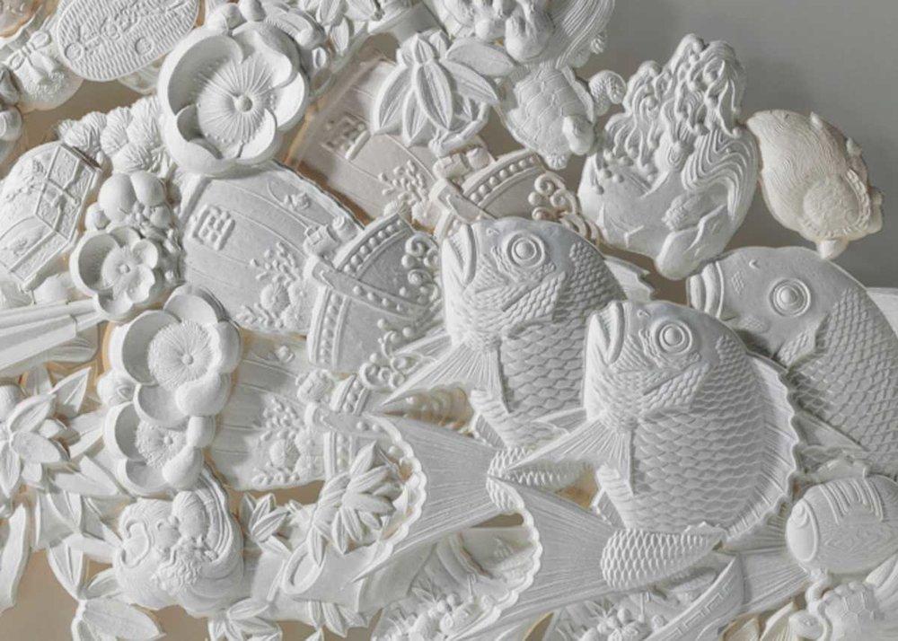 Sculpture en papier washi