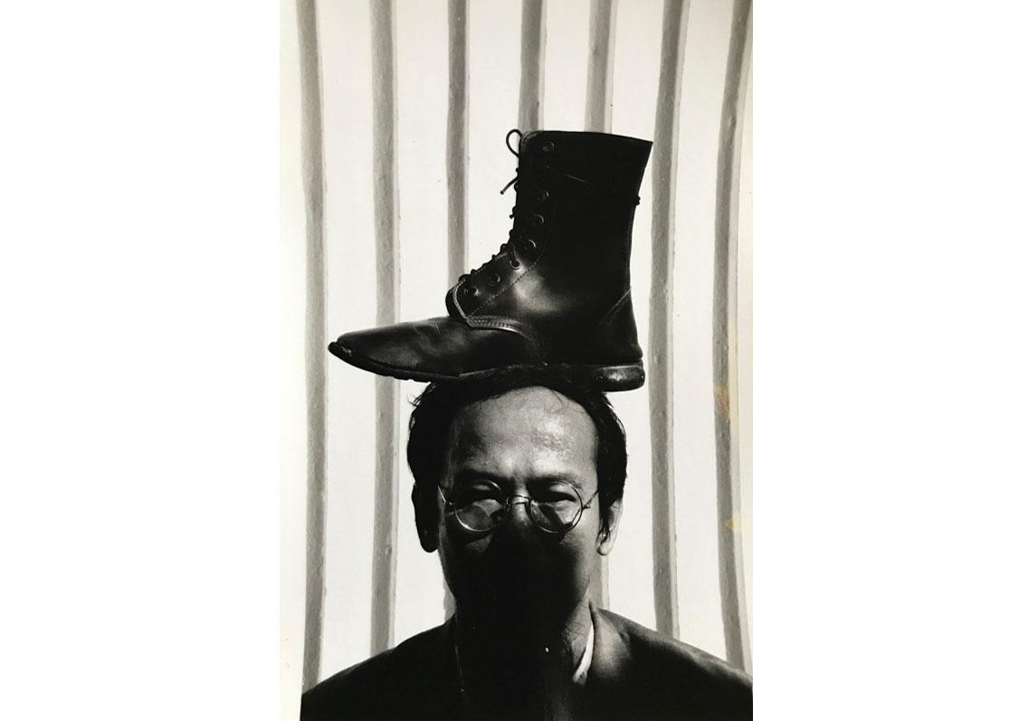 © Vasan Sittiket,  Top Boot on My Head , 1993