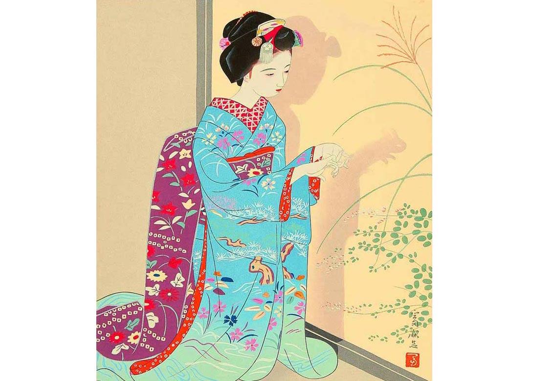 Autumn, Woodblock Print by Tomimaro Higuchi, 1946
