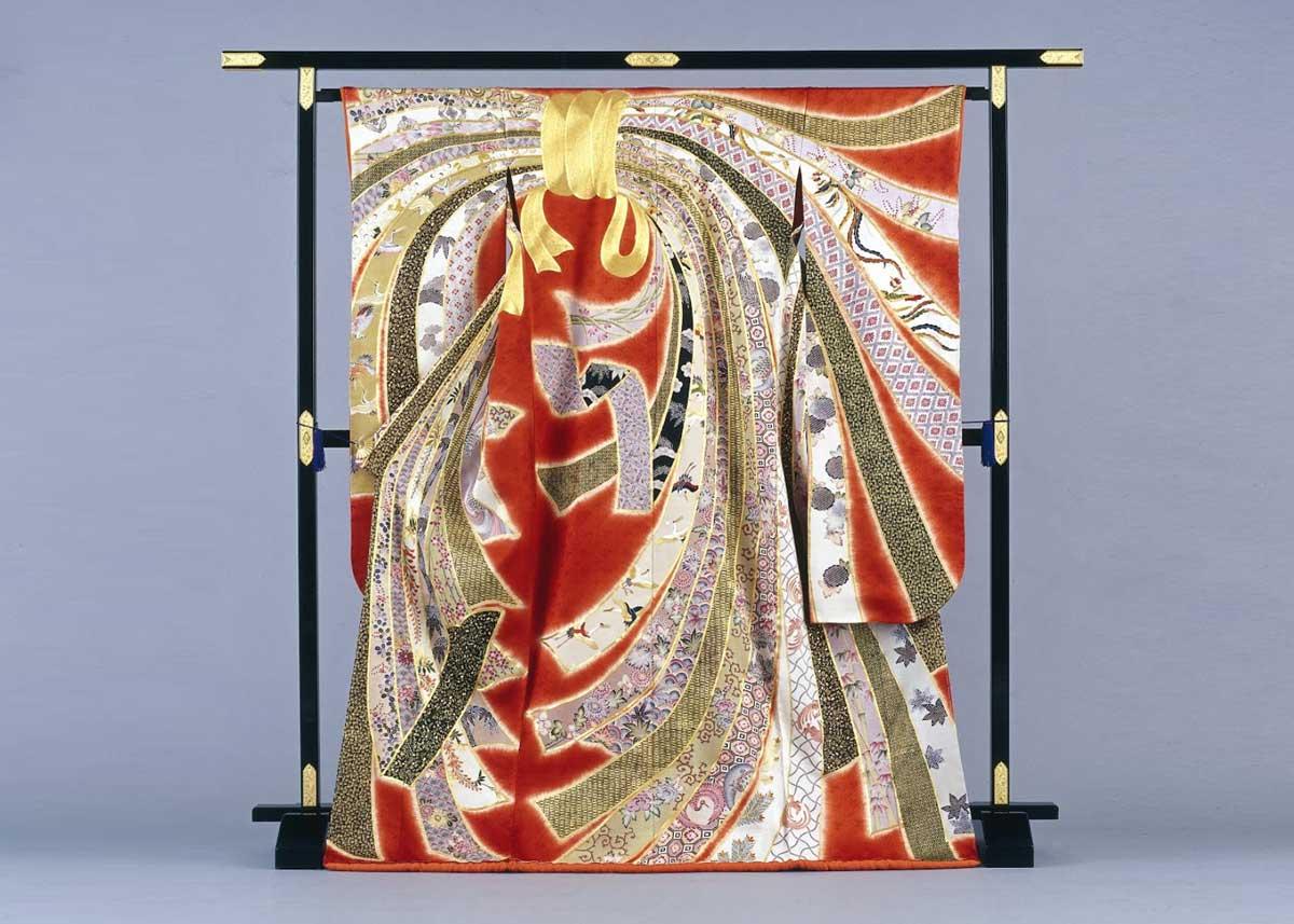 ©  Chiso Kimono , Kyo-Yuzen Furisode Kimono