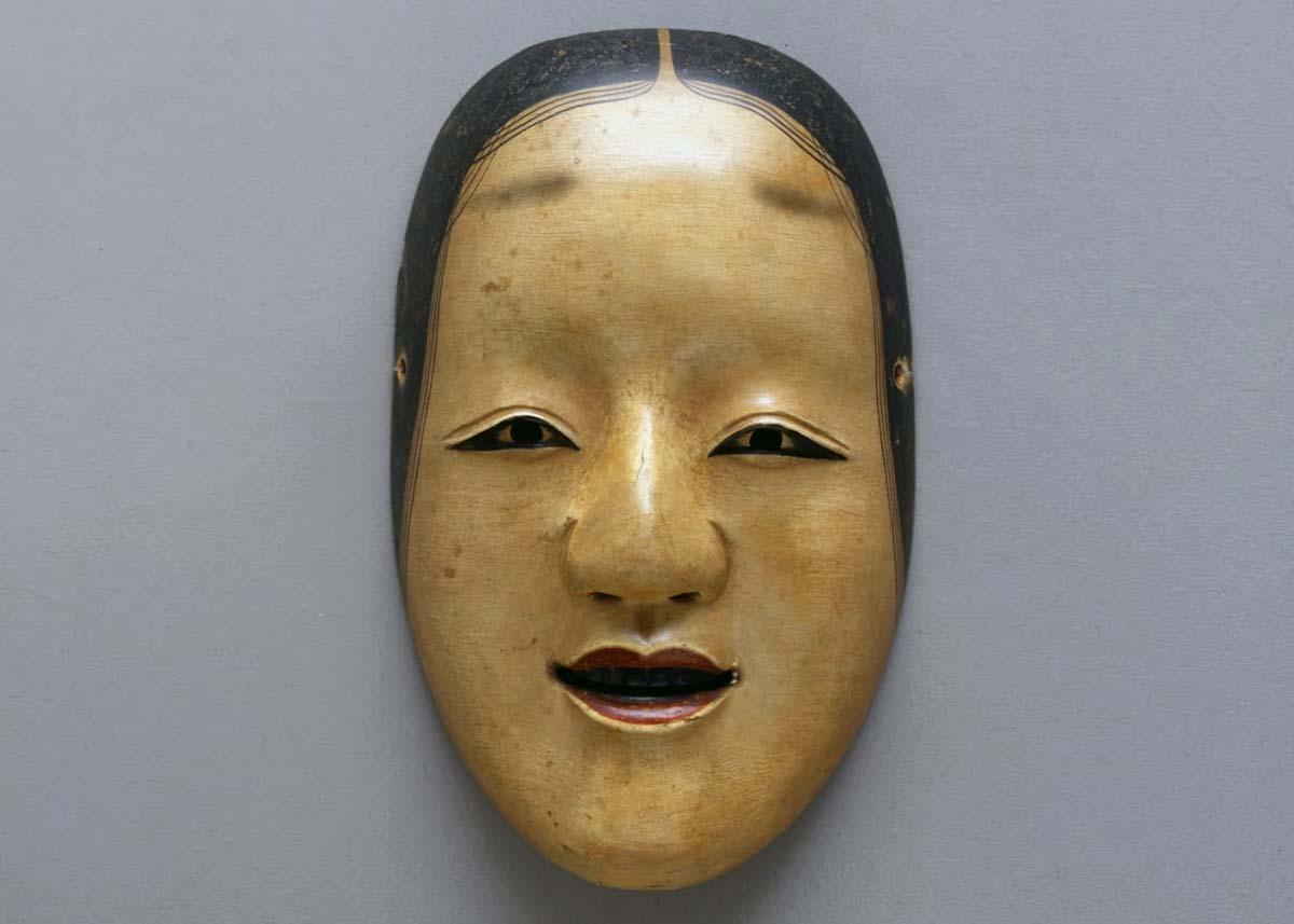 © Onnamen Noh Mask, 18th Century,  Fukuoka City Museum