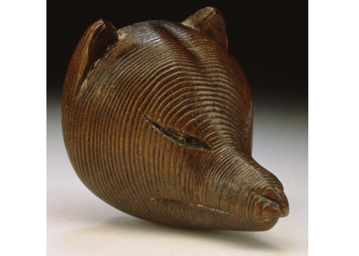 © Wooden Kitsune Fox Mask, 19th Century,  LACMA