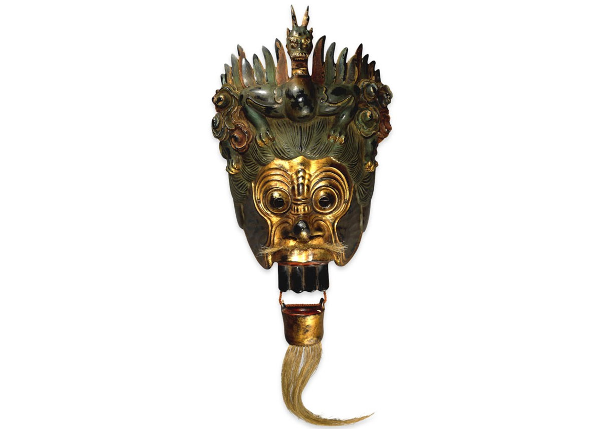 © Lacquered Wooden Bugaku Mask of the Dragon King, 17th Century,  British Museum
